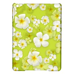 Frangipani Flower Floral White Green Ipad Air Hardshell Cases by Alisyart