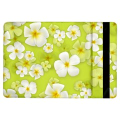 Frangipani Flower Floral White Green Ipad Air Flip