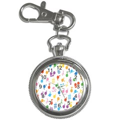 Notes Tone Music Purple Orange Yellow Pink Blue Key Chain Watches by Alisyart