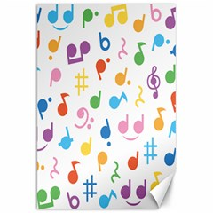 Notes Tone Music Purple Orange Yellow Pink Blue Canvas 20  X 30   by Alisyart