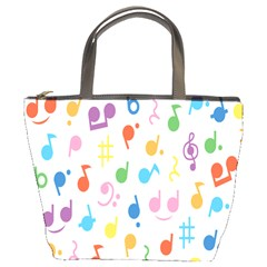 Notes Tone Music Purple Orange Yellow Pink Blue Bucket Bags