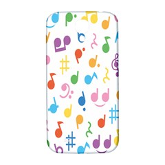 Notes Tone Music Purple Orange Yellow Pink Blue Samsung Galaxy S4 I9500/i9505  Hardshell Back Case