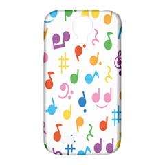 Notes Tone Music Purple Orange Yellow Pink Blue Samsung Galaxy S4 Classic Hardshell Case (pc+silicone)