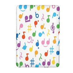 Notes Tone Music Purple Orange Yellow Pink Blue Samsung Galaxy Tab 2 (10 1 ) P5100 Hardshell Case  by Alisyart