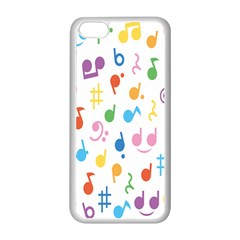 Notes Tone Music Purple Orange Yellow Pink Blue Apple Iphone 5c Seamless Case (white)