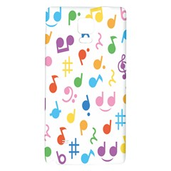 Notes Tone Music Purple Orange Yellow Pink Blue Galaxy Note 4 Back Case