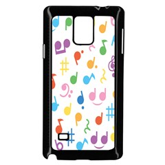 Notes Tone Music Purple Orange Yellow Pink Blue Samsung Galaxy Note 4 Case (black)