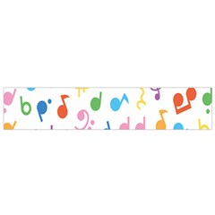 Notes Tone Music Purple Orange Yellow Pink Blue Flano Scarf (small)