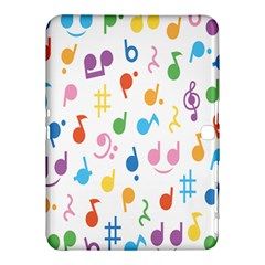 Notes Tone Music Purple Orange Yellow Pink Blue Samsung Galaxy Tab 4 (10 1 ) Hardshell Case