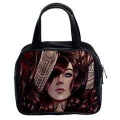 Beautiful Women Fantasy Art Classic Handbags (2 Sides) by Amaryn4rt