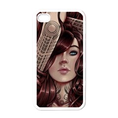 Beautiful Women Fantasy Art Apple Iphone 4 Case (white) by Amaryn4rt