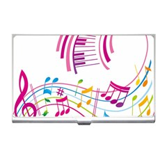 Musical Notes Pink Business Card Holders