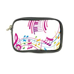 Musical Notes Pink Coin Purse