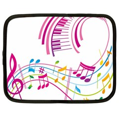 Musical Notes Pink Netbook Case (xl)