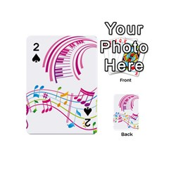 Musical Notes Pink Playing Cards 54 (mini)