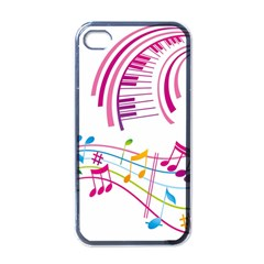 Musical Notes Pink Apple Iphone 4 Case (black)