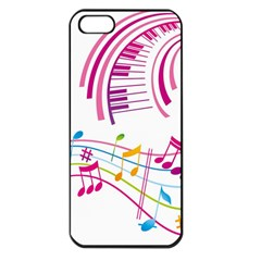 Musical Notes Pink Apple Iphone 5 Seamless Case (black)