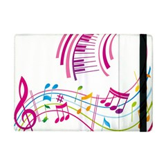 Musical Notes Pink Apple Ipad Mini Flip Case