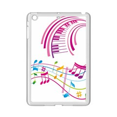 Musical Notes Pink Ipad Mini 2 Enamel Coated Cases