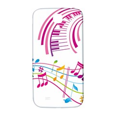 Musical Notes Pink Samsung Galaxy S4 I9500/i9505  Hardshell Back Case