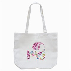 Musical Notes Pink Tote Bag (white)