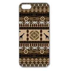 African Vector Patterns  Apple Seamless Iphone 5 Case (clear) by Amaryn4rt