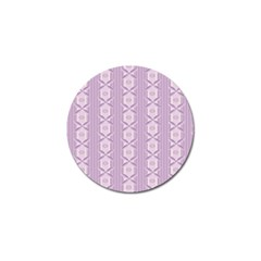 Flower Star Purple Golf Ball Marker (10 Pack)