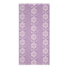 Flower Star Purple Shower Curtain 36  X 72  (stall)