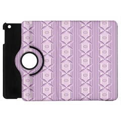 Flower Star Purple Apple Ipad Mini Flip 360 Case