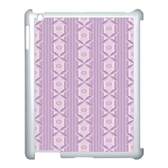 Flower Star Purple Apple Ipad 3/4 Case (white)
