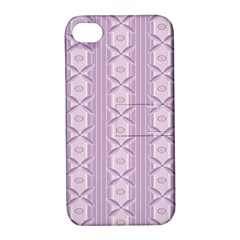 Flower Star Purple Apple Iphone 4/4s Hardshell Case With Stand