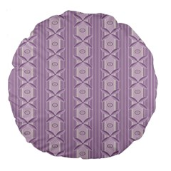Flower Star Purple Large 18  Premium Flano Round Cushions
