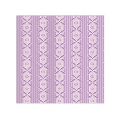 Flower Star Purple Small Satin Scarf (square)