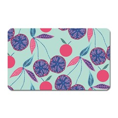 Passion Fruit Pink Purple Cerry Blue Leaf Magnet (rectangular)