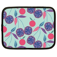 Passion Fruit Pink Purple Cerry Blue Leaf Netbook Case (xl)  by Alisyart