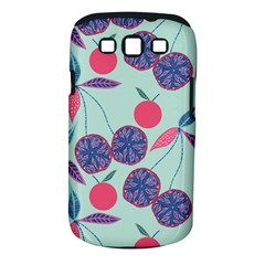 Passion Fruit Pink Purple Cerry Blue Leaf Samsung Galaxy S Iii Classic Hardshell Case (pc+silicone)