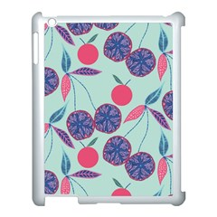 Passion Fruit Pink Purple Cerry Blue Leaf Apple Ipad 3/4 Case (white)