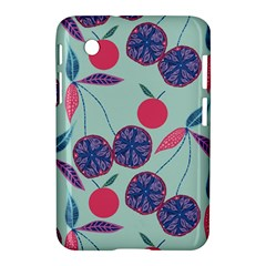 Passion Fruit Pink Purple Cerry Blue Leaf Samsung Galaxy Tab 2 (7 ) P3100 Hardshell Case  by Alisyart