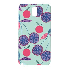 Passion Fruit Pink Purple Cerry Blue Leaf Samsung Galaxy Note 3 N9005 Hardshell Back Case