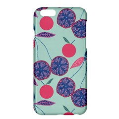 Passion Fruit Pink Purple Cerry Blue Leaf Apple Iphone 6 Plus/6s Plus Hardshell Case