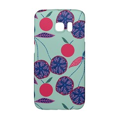 Passion Fruit Pink Purple Cerry Blue Leaf Galaxy S6 Edge by Alisyart