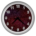 3d Tiny Dots Pattern Texture Wall Clocks (Silver)  Front