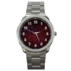 3d Tiny Dots Pattern Texture Sport Metal Watch by Amaryn4rt
