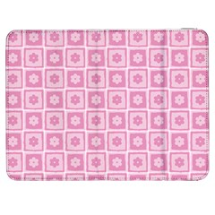 Plaid Floral Flower Pink Samsung Galaxy Tab 7  P1000 Flip Case