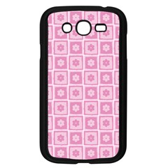 Plaid Floral Flower Pink Samsung Galaxy Grand Duos I9082 Case (black)