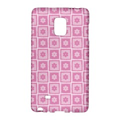 Plaid Floral Flower Pink Galaxy Note Edge
