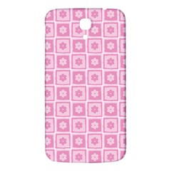 Plaid Floral Flower Pink Samsung Galaxy Mega I9200 Hardshell Back Case