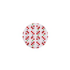Permutations Dice Plaid Red Green 1  Mini Buttons