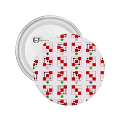 Permutations Dice Plaid Red Green 2 25  Buttons