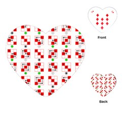 Permutations Dice Plaid Red Green Playing Cards (heart)